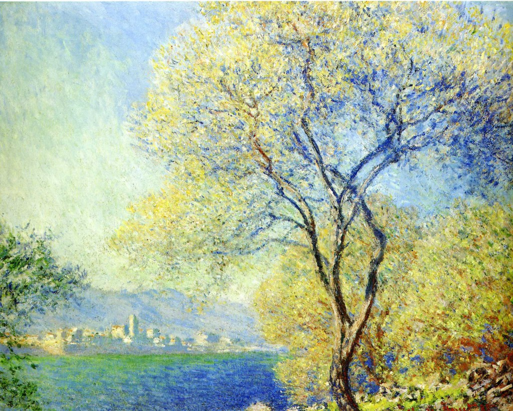 an analysis of claude monets use of color and brush strokes